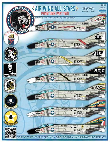 - FUR48019 1:48 Furball Aero Design F-4B F-4N Phantom II Air Wing All-Stars Part 2 DECAL SHEET