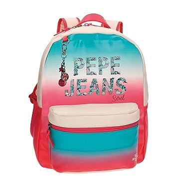 Pepe Jeans Nicole Mochila Escolar, 42 cm, 21.5 Litros, Multicolor: Amazon.es: Equipaje