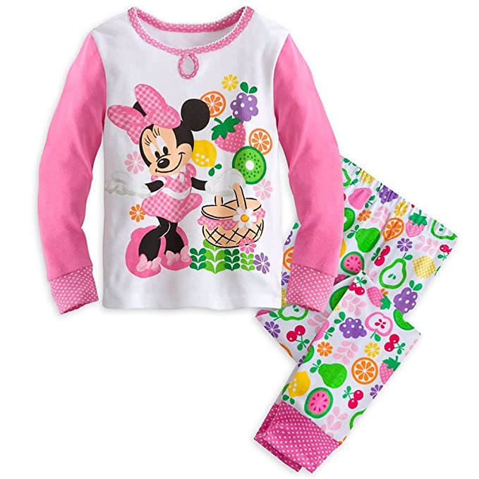 ff88fd0803 Image Unavailable. Image not available for. Color  Disney Store Minnie  Mouse Little Girl 2 PC Long Sleeve Pajama ...