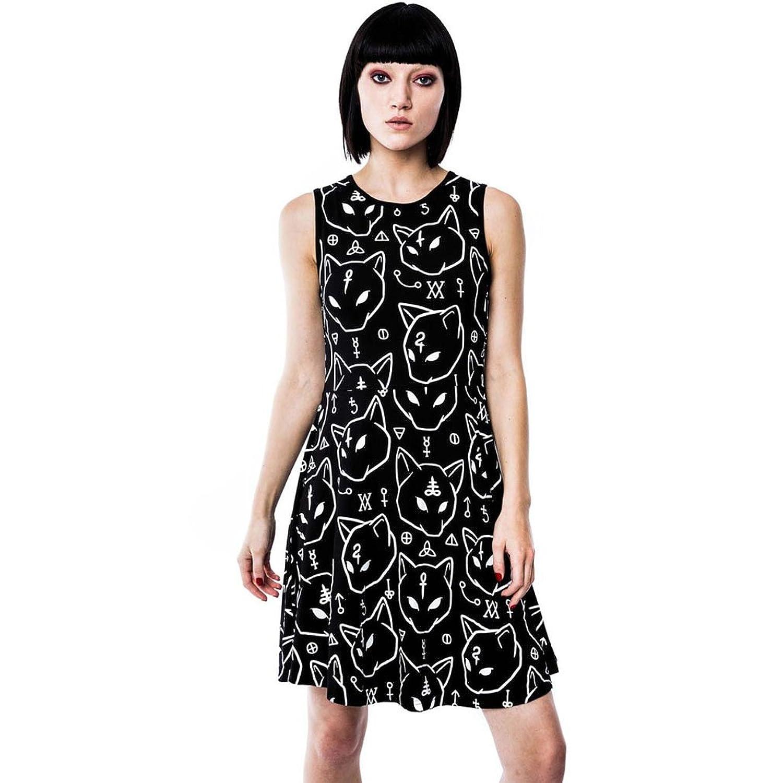 Killstar Women's Skater Sleeveless Dress Black Black