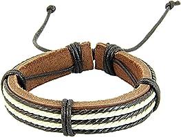 Wintefei Chic Surfer Tribal Multiwrap Men's Faux Leather Hemp Rope Cuff Bracelet Bangle