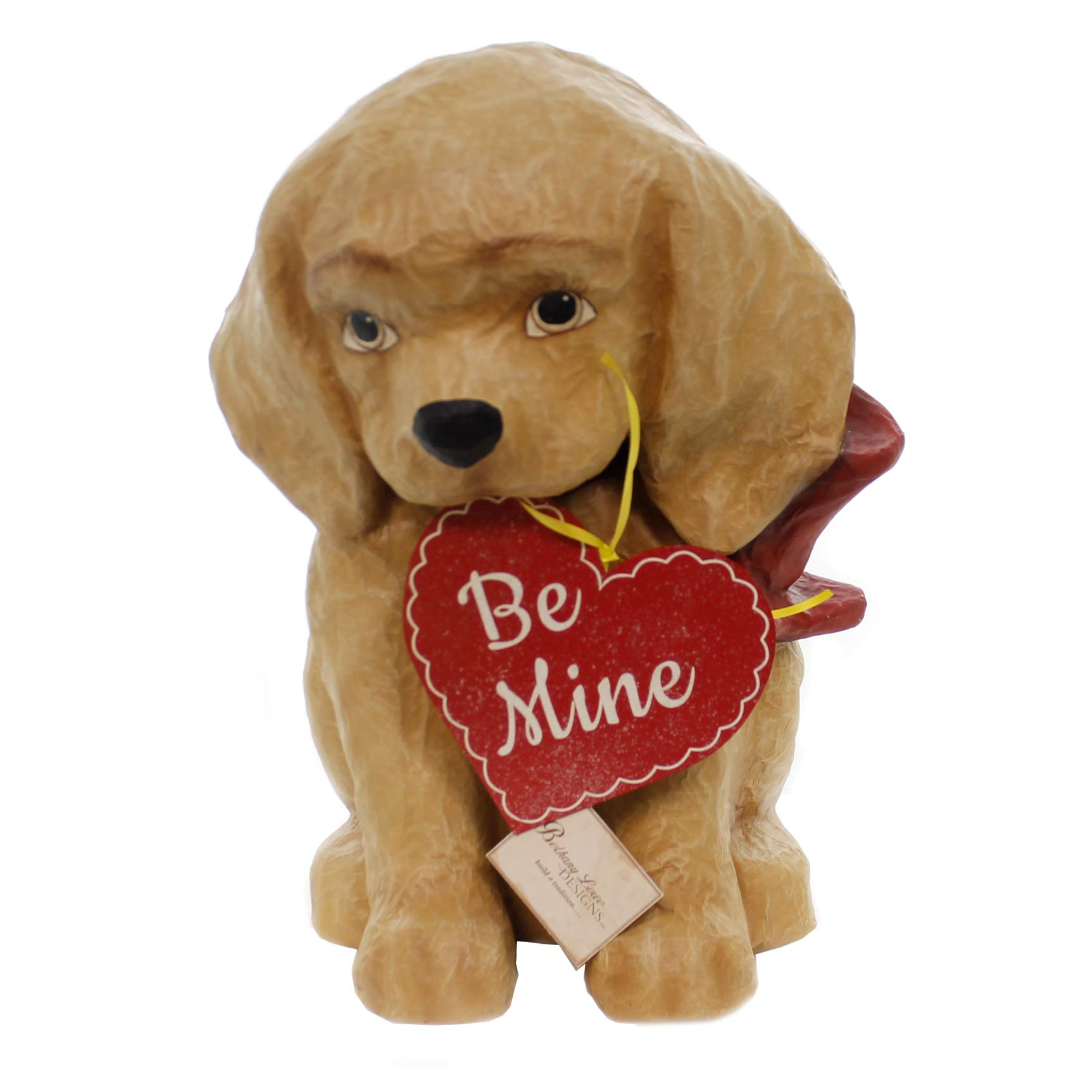 Valentine's Day BE Mine Puppy Paper Mache Valentine Love Heart Td8491