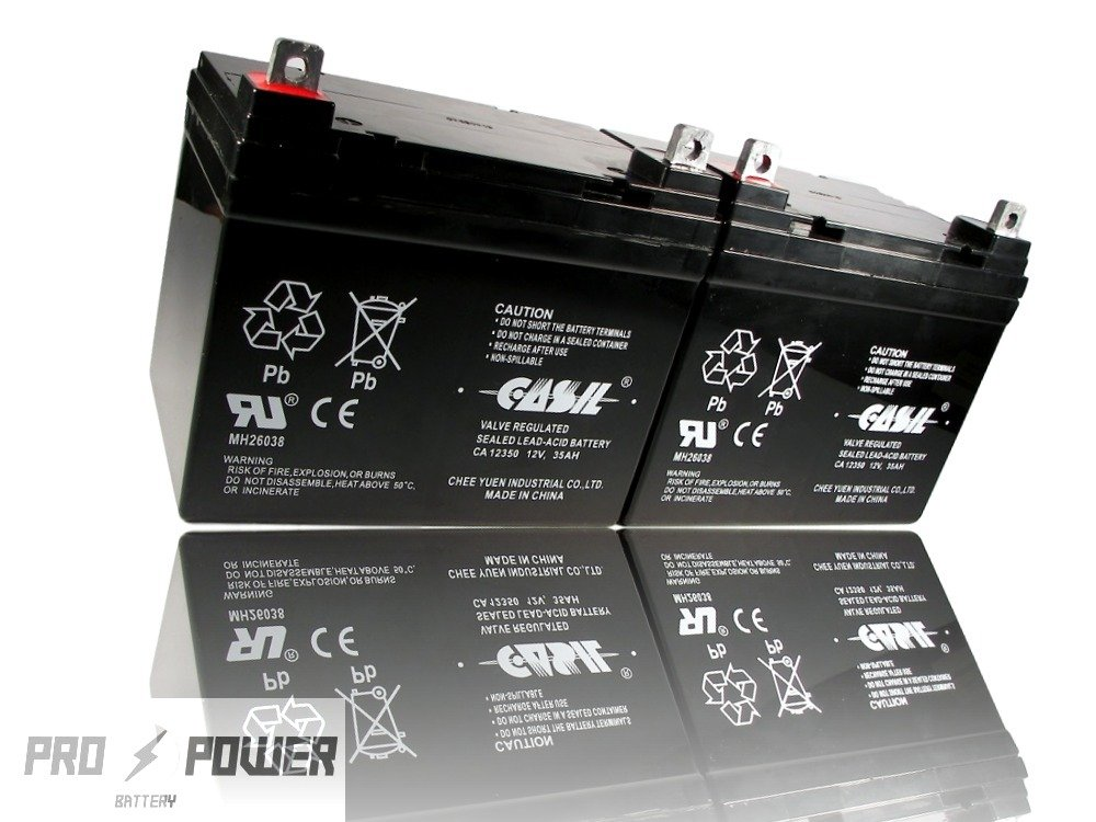 (2) Casil 12v 35ah for Invacare Pronto M41 Wheelchair Battery Re