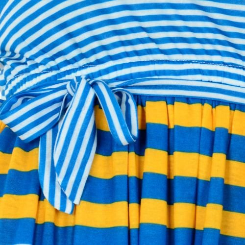 Damen Blau Marine Blau Kleid Gelb Stripe Lemon Beret zwtCxqzB