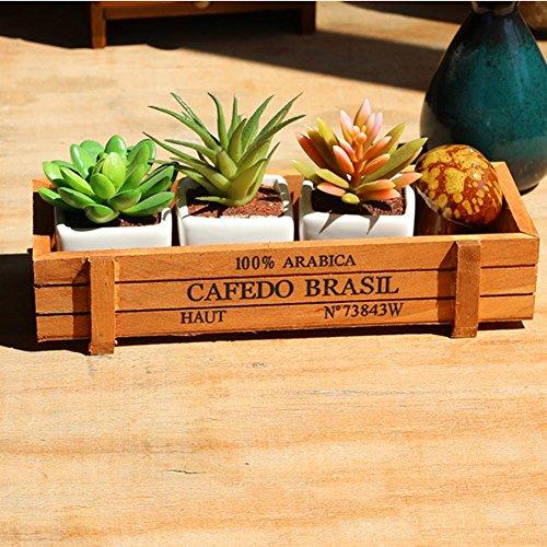 Dutch Brook Rectangle Wooden Succulent Plant Fleshy Flower Bed Pot Garden Planter Box Container (H01) (Box Dutch)