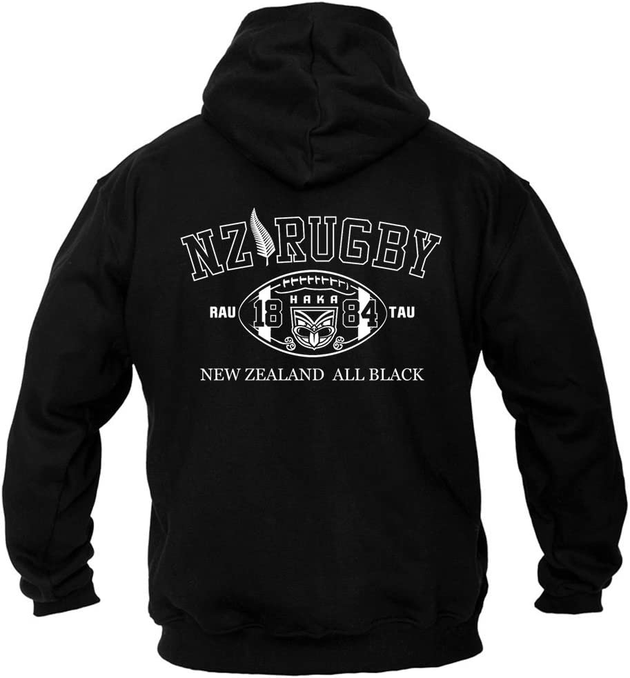 Dirty Ray Rugby New Zealand All Black sudadera hombre con capucha B2