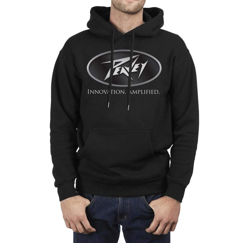 IHOID Mans Drawstring Sweatshirt Peavey-Electronics-Guitars-Logo Fleece Long Sleeve