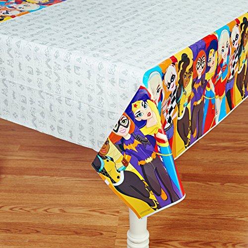 American Greetings DC Super Hero Girls Plastic Table Cover, 54