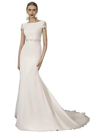 Robe de mariee courte avec traine