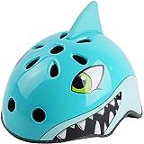 ED-Lumos Blue Shark Kids Bike Helmet Multi-Sport Cycling Skating Scooter for Girls Boys