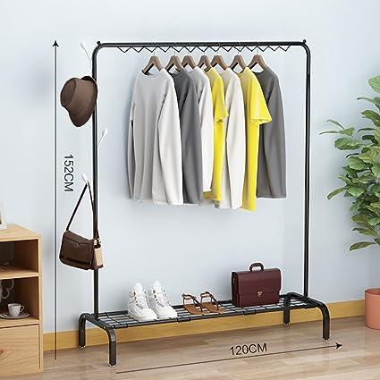 ZY Perchero Colgador de ropa/suelo plegable interior ...
