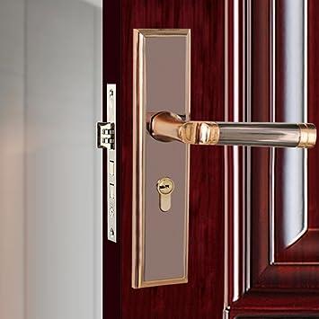Interior europeo Silent mecánico cerradura de la puerta Anti robo ...