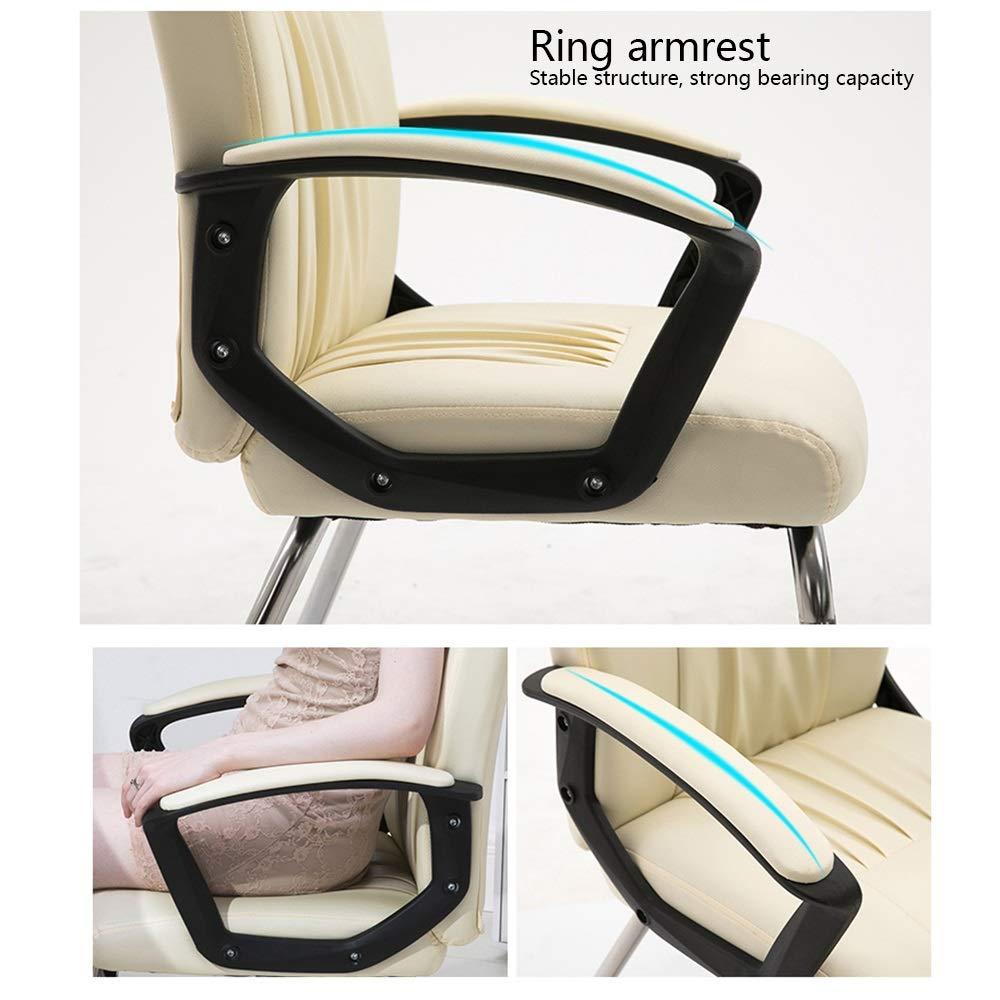 Kontorsstol ergonomisk datorstol rosett fot hög ryggstöd kontorsstol hushåll spelstol för student sovsal kontor (färg: Brun) SVART
