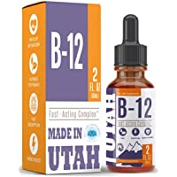 Vitamin B12 Liquid - Sublingual B12 Drops - Vegan & Non-GMO - Instantly Boost Energy...