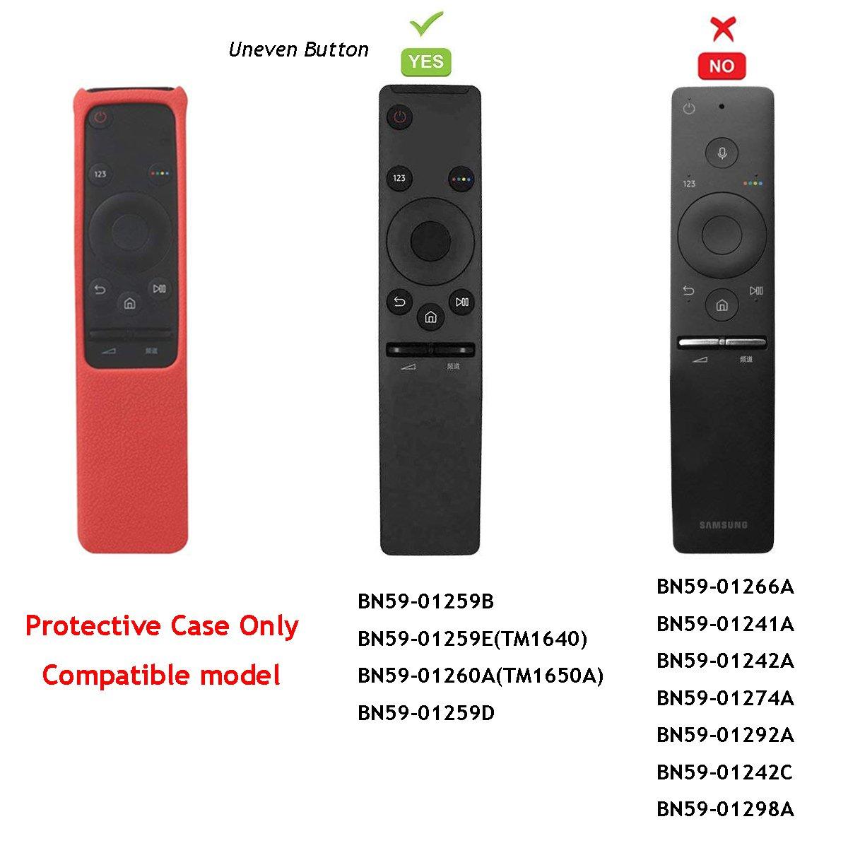 Voice Luminoso Blu SIKAI Telaio del telecomando BN59-01266A BN59-01274A della TV copertura protettiva anticaduta della cassa del silicone per Samsung Smart TV Remote Controller
