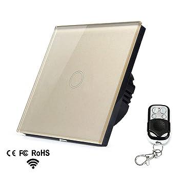 1-Weg/2-Weg/3-Weg Glas Touchscreen Lichtschalter, Fernbedienung, RF ...