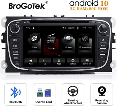 Radio Android 10.0 de Coche Autoradio CD para Ford Mondeo Focus ...