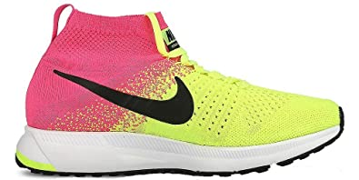 size 40 fe9c1 832cf ... promo code for nike kids zoom pegasus all out flyknit oc gs volt black  pink blast