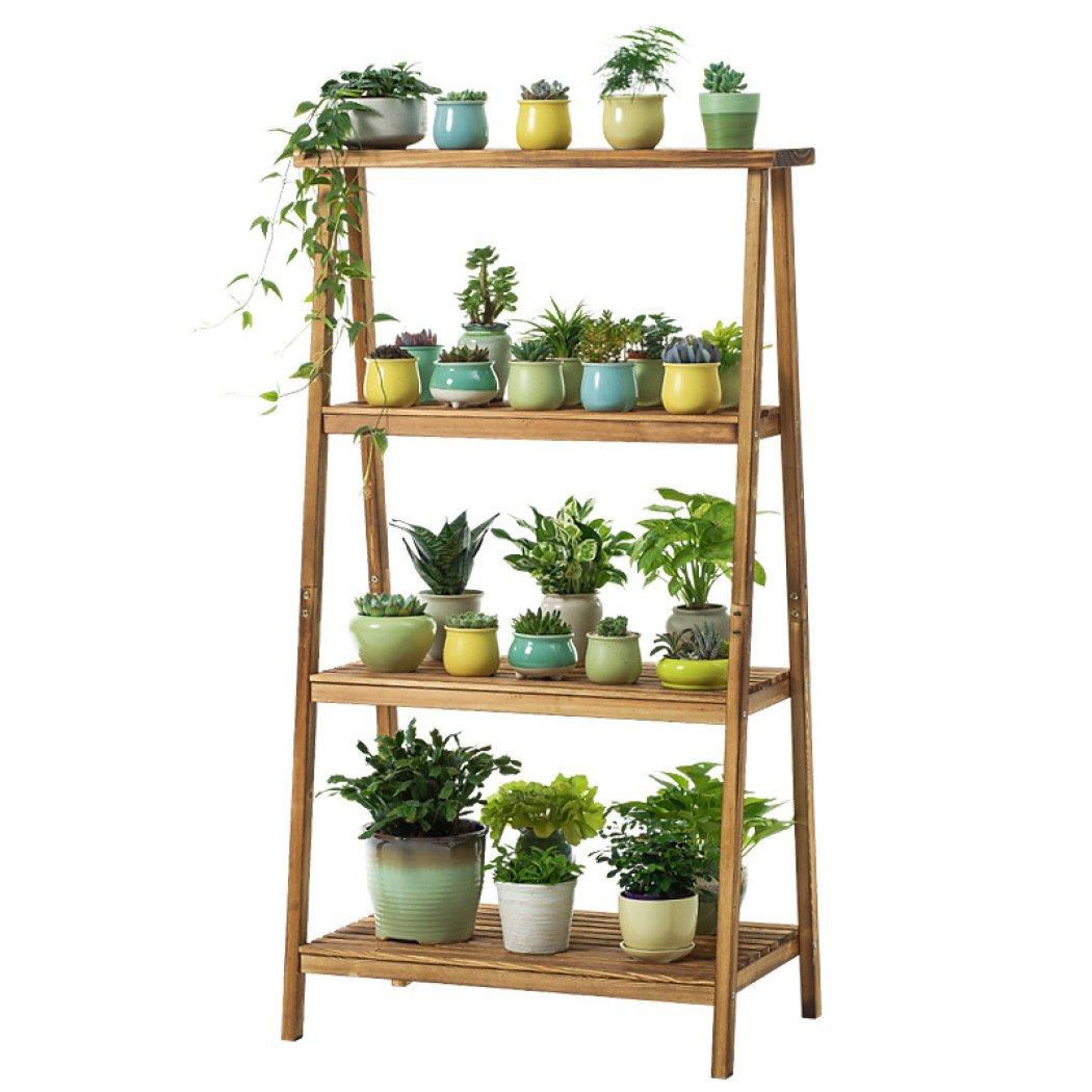 Espositore per piante in legno Espositore per scaffali in legno Supporto per esterni per esterni, vassoio decorativo per fioriera