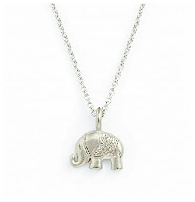 iszie jewellery sterling silver cute little baby elephant necklace ,sweet crystal elephant pendant necklace for girl