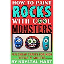 How To Paint Rocks With Cool Monsters : Fun Cheap Crafts For Kids Teens And Adults