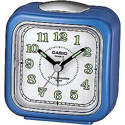 Casio Tq-157-2 Table Top Travel Alarm Clock Blue