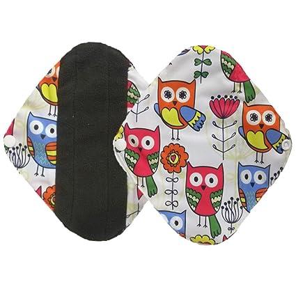2 pcs reutilizable lavable a gamuza de bambú menstrual Pad, belleza toalla de Top Mama