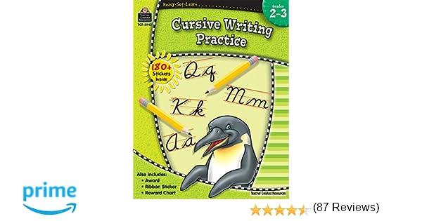 Amazon.com: Ready-Set-Learn: Cursive Writing Practice Grd 2-3 ...