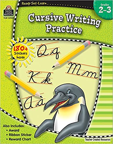 Amazon.com: Ready-Set-Learn: Cursive Writing Practice Grd 2-3 ...