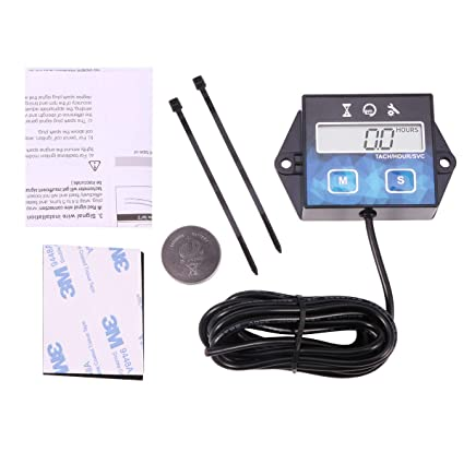 Amazon com: Searon Hour Meter Tach Tachometer for Small