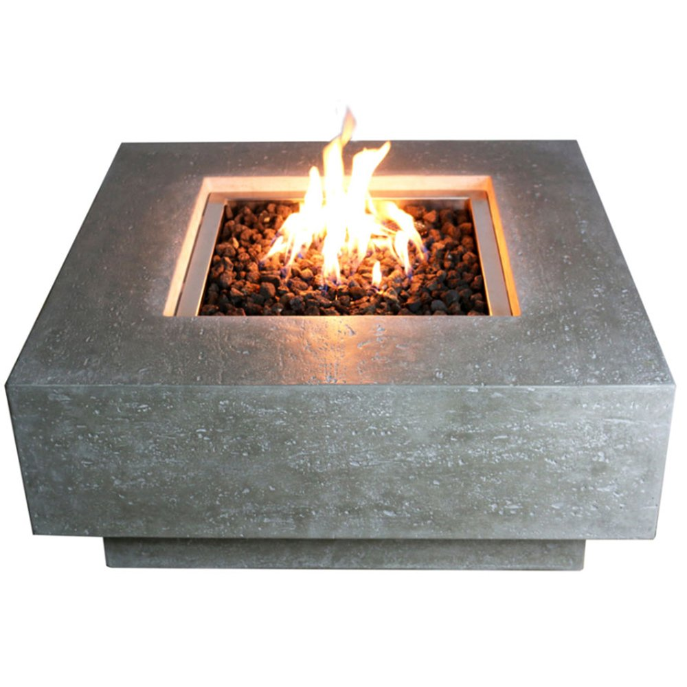 amazon com elementi manhattan fire pit table natural gas