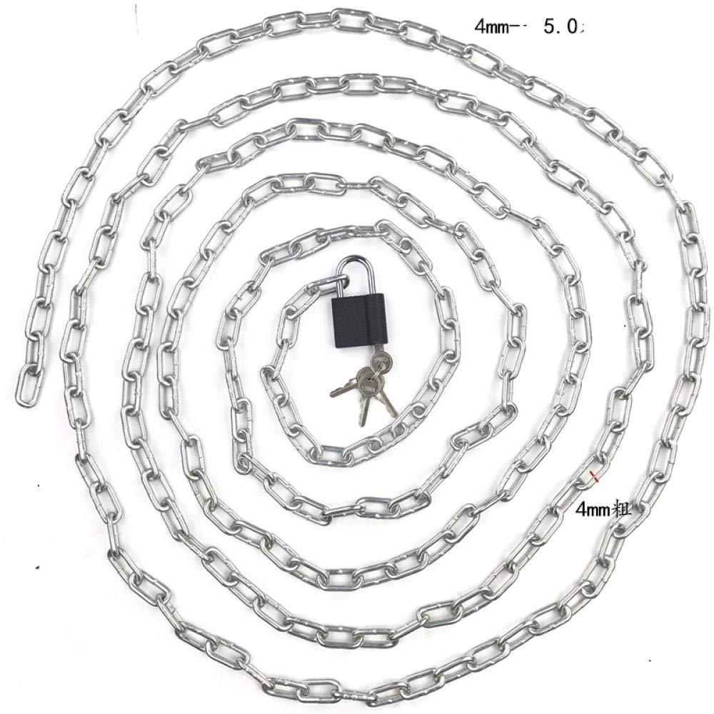 candado de Cadena Candado de Bicicleta candado de Cadena candado de Cadena de Hierro candado de Cadena antirrobo 4 mm-3,0 Metros candado de bater/ía de Coche