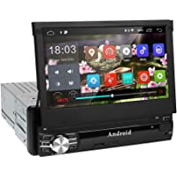 Radio 1 din Android 6.0 GPS Navegador, Amkle Autoradio para Coche con 7'' Pantalla táctil 1080p, radio estéreo RDS/FM/AM, reproductor multimedia música Video WiFi/MP3/SD/USB/Bluetooth Manos Libres