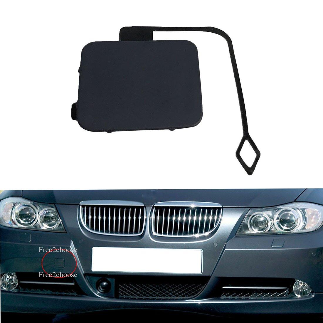 Free2choose Front Bumper Tow Hook Cover Cap for E90 E91 2005 2006 2007 2008 318i 320i 328i 330i 3