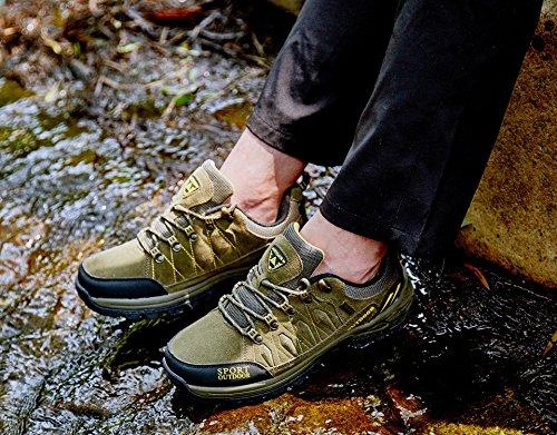 Chaussures de Randonnée Outdoor pour Hommes Femmes Basses Trekking et Les Promenades Sneakers Verte Bleu Noir 36-47 6