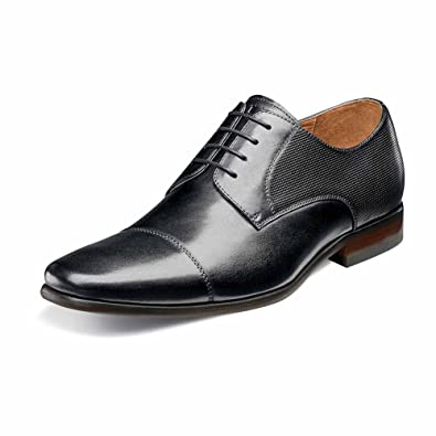 a4d530c1bcc Florsheim Men s Postino Cap Toe Oxford Black Smooth Perf 7 D US D (M