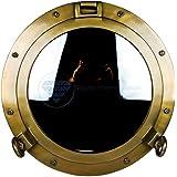"20"" Old Age Premium Antique Brass Nautical Ship's Porthole Mirror | Premier Decorative Hanging | Wall Decor | Home Furnishing | Beach Stlye Christmas Gift | Nagina International"