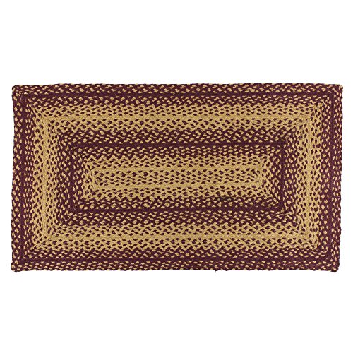 IHF Home Decor Vintage Star | Rectangle Braided Area Rugs for Outdoor, Indoor, Porch, Dormitory, Farmhouse, Garden | 100% Natural Jute Material Doormat | Accent Floor Carpet - Diameter 27