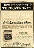 1921 Ad Pacquin Perfumeurs Lemon Cleansing Face Cream 217 W 14 St NY Parfum Jar - Original Print Ad