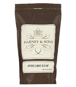 Harney & Sons Avocado Leaf Herbal Tea Bulk Bag Of 50 Sachets, Avocado, 50Count
