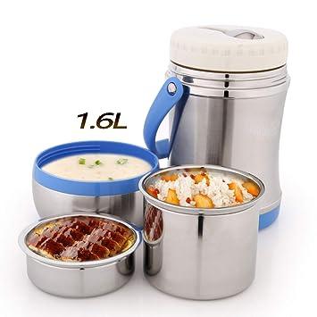 DAMAILE Boîte à Lunch Box Boîte Thermos pour Aliments en Acier Inoxydable  Isotherme sous Vide, c69f44ed64ad