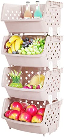 de Giplar Racks Cuisine de 4 Rangement étages en Fruits légumes Plastique d'angle Rangement boîte Etagère Panier et ZuTXiOPk