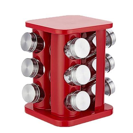 Amazon.com: Carousel - Especiero para 12 tarros vacíos con ...
