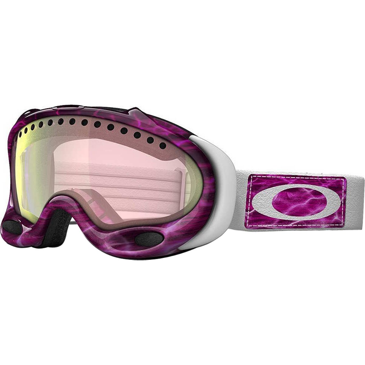 Oakley A-Frame Men's Snow Snowmobile Goggles Eyewear - Grape Wine/VR28 / One Size Fits All