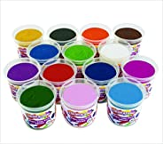 Colorations Classic Dough, 5 oz tubs, Set of 14 Bright Colors, Non-Toxic, Resealable, Soft, Pliable, No Crumble, Modeling, Mo
