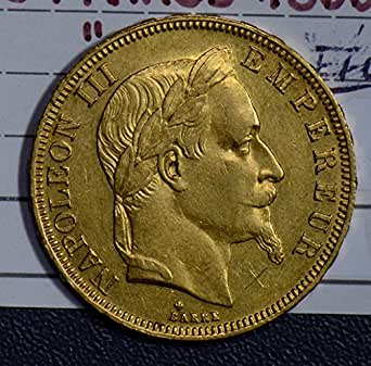 1866 FR GL0030 France 50 Francs BB AU agw .4667oz of pure gold DE PO-01