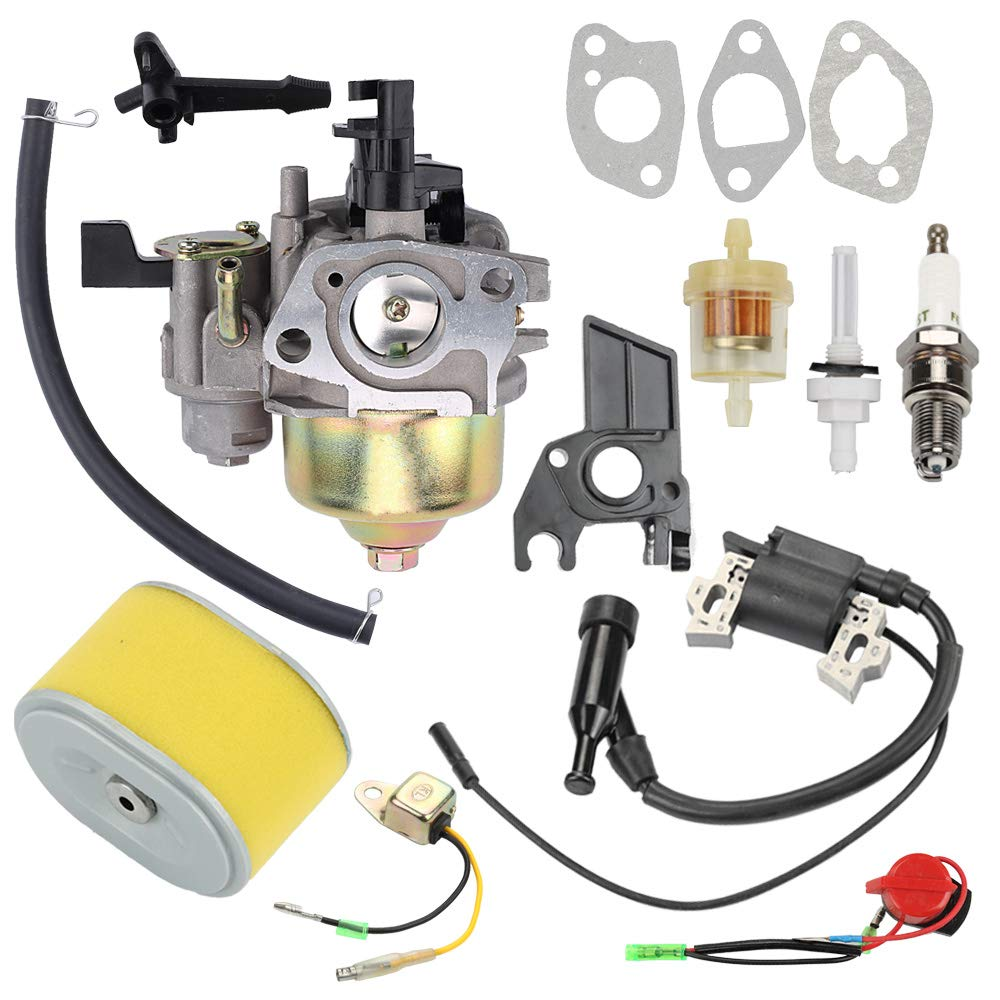 Hayskill GX 160 Carburetor w Fuel Filter Spark Plug for Honda GX160 GX200 5.5HP 6.5HP Engine WP30X Water Pump Pressure Washer Carb Replace 16100-ZH8-W61 16100-ZE1-814 16100-ZE1-825 16100-ZH8-W51