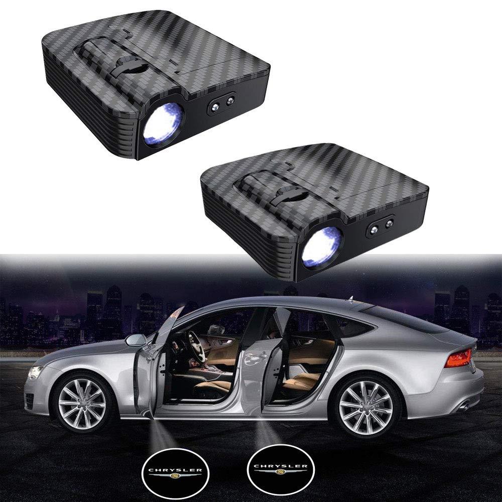 actualizado sin im/án MIVISO 2 piezas Puerta de coche Logo Led Proyector Luz L/ámpara inal/ámbrica Bienvenido Ghost Shadow Light