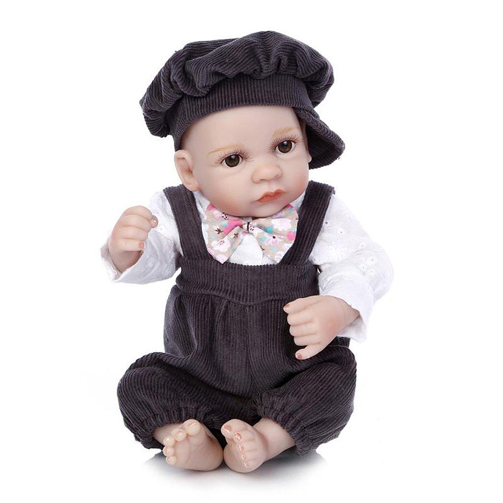Thobu リボーンベビードール ミニベビードール 男の子 女の子 リボーン リアルなシリコンツイン おもちゃ 10インチ 子供 誕生日ギフト 26cm(10.24in) 8QQ400588-B_WCB  男の子(Boy) B07JFTWC6T