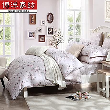 Collection Bedding Set Hypoallergenic Sheet Duvet Cover 4 Piece Comforter Set Pillow Case Set Queen